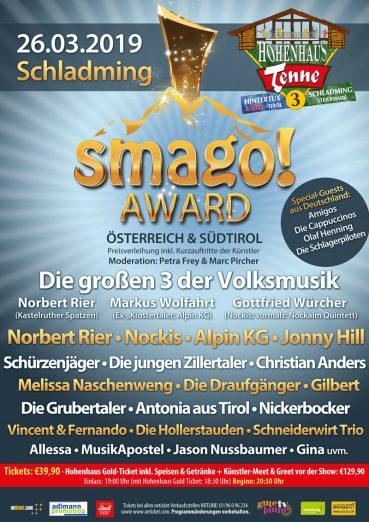 smago! AWARD Österreich & Südtirol 2.0 - am 26.03.2019 in Schladming (Hohenhaus Tenne)