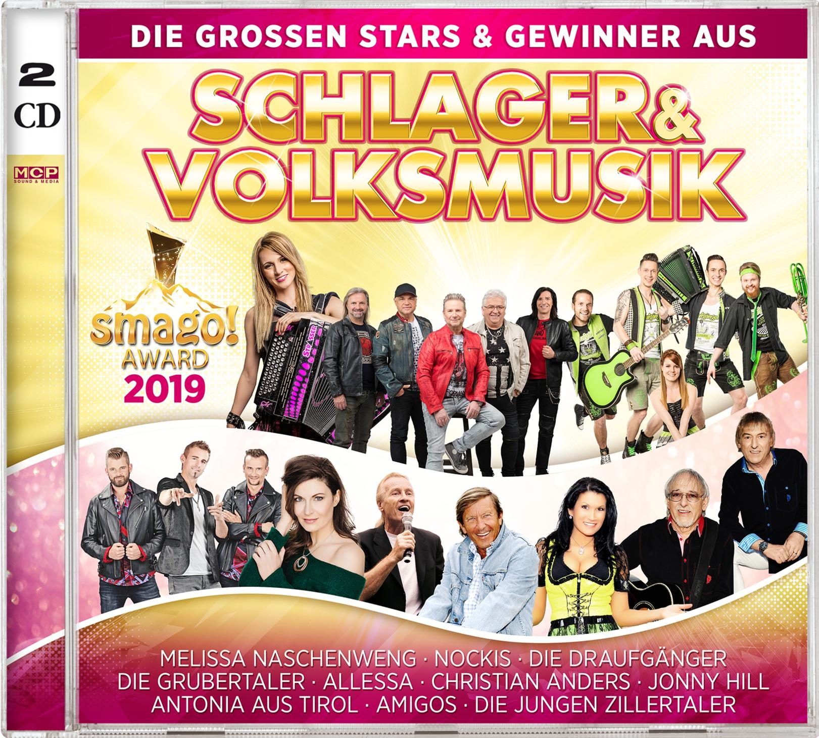 Die Stars & Gewinner aus Schlager & Volksmusik - smago! Award 2019 (Doppel-CD)