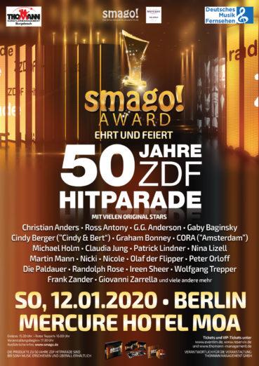 smago! AWARD feiert und ehrt 50 JAHRE ZDF-HITPARADE