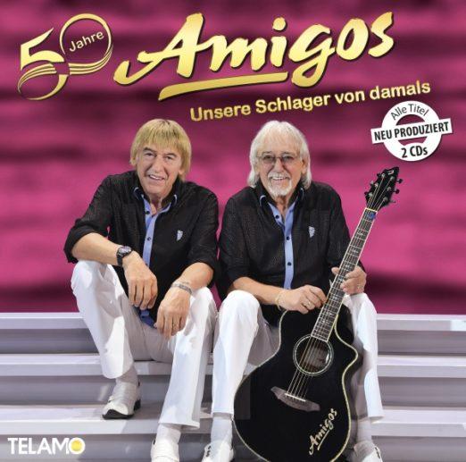 """AMIGOS <br>Wissenswertes über ihre (neu produzierte!) Doppel-CD """"50 Jahre – Unsere Schlager von damals""""!"""