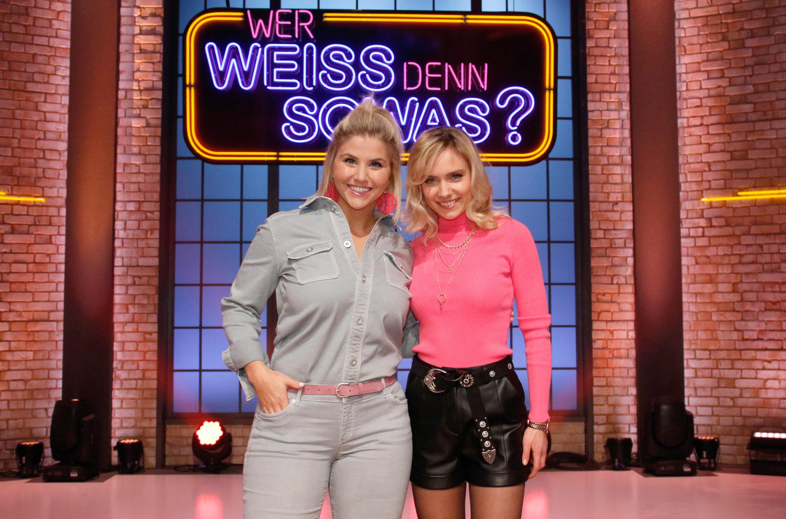 Beatrice Egli Marie Wegener Am Freitag 06 03 2020 In Der Rate Show Wer Weiss Denn Sowas Zu Gast Smago