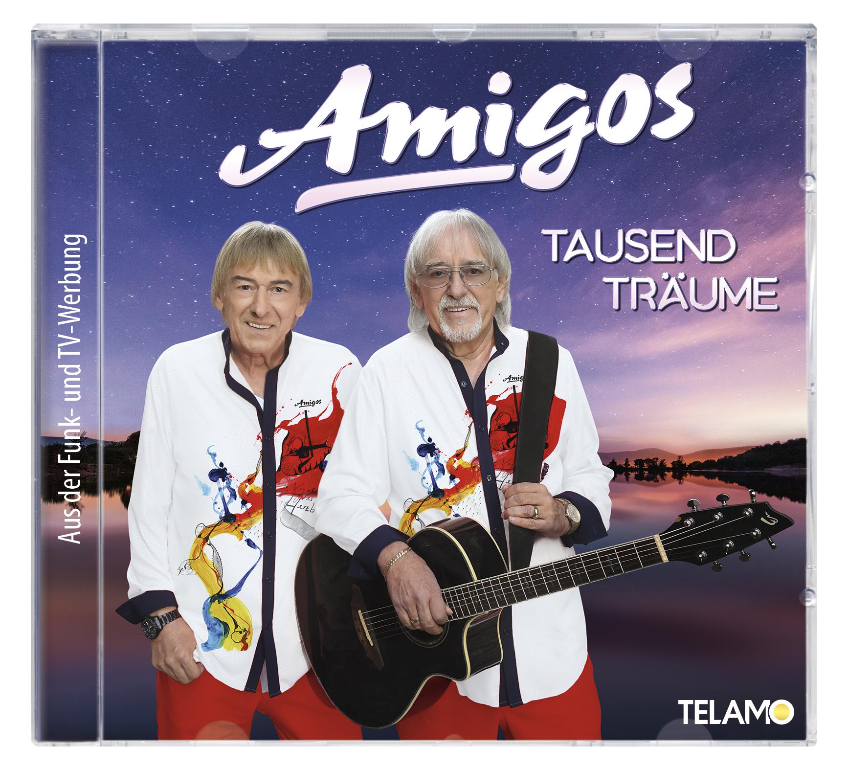 AMIGOS * Tausend Träume (CD; DVD; limitierte Fan Box) * Das mutmaßliche ZWÖLFTE Nr. 1 Album der AMIGOS in den OFFIZIELLEN DEUTSCHEN CHARTS