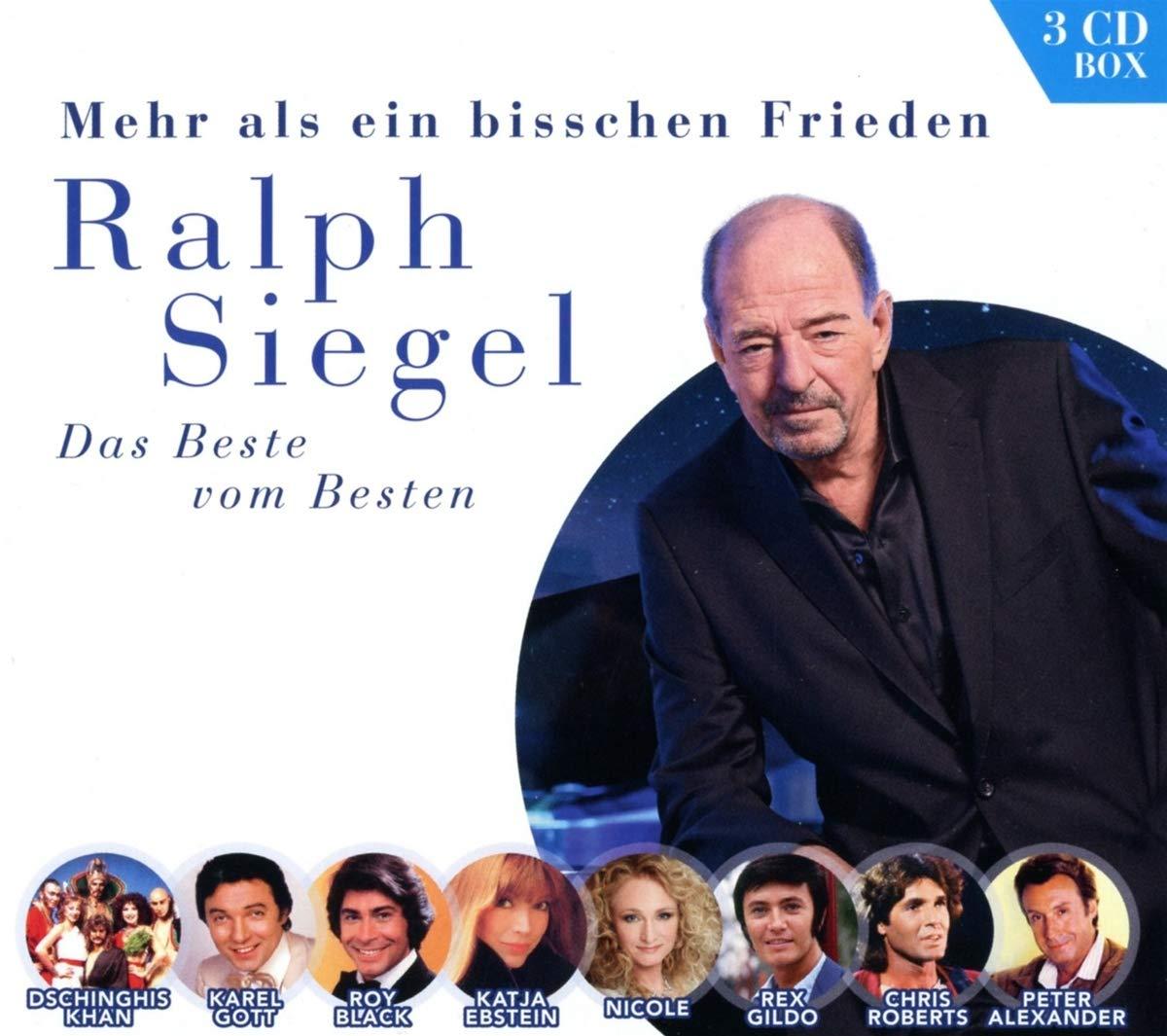 """RALPH SIEGEL * """"Mehr als ein bisschen Frieden – Die große Hit-Kollektion (3-CD Box)"""