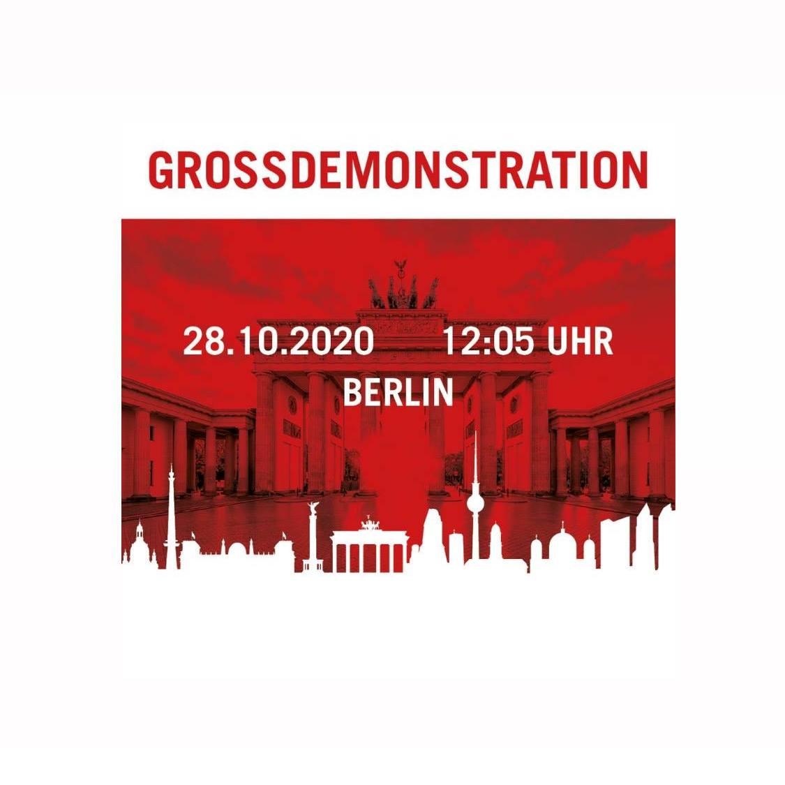 #AlarmstufeRot: Deutsche Veranstaltungswirtschaft kollabiert * DEMO - am 28.10.2020, 12:05 Uhr, Berlin
