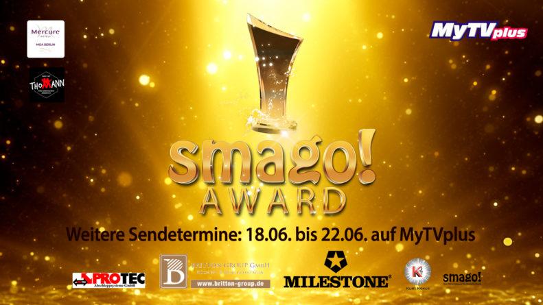 smago! AWARD <br>Gleich 5 Sendetermine bei MyTVplus im Zeitraum vom 18.06. – 22.06.2021!