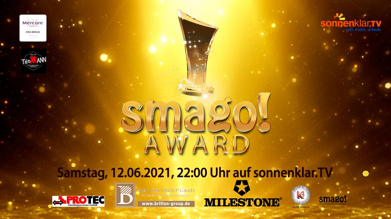 smago! AWARD * TV-Erstausstrahlung am 12.06.2021, sonnenklar.TV, 22:00 Uhr - 00:00 Uhr