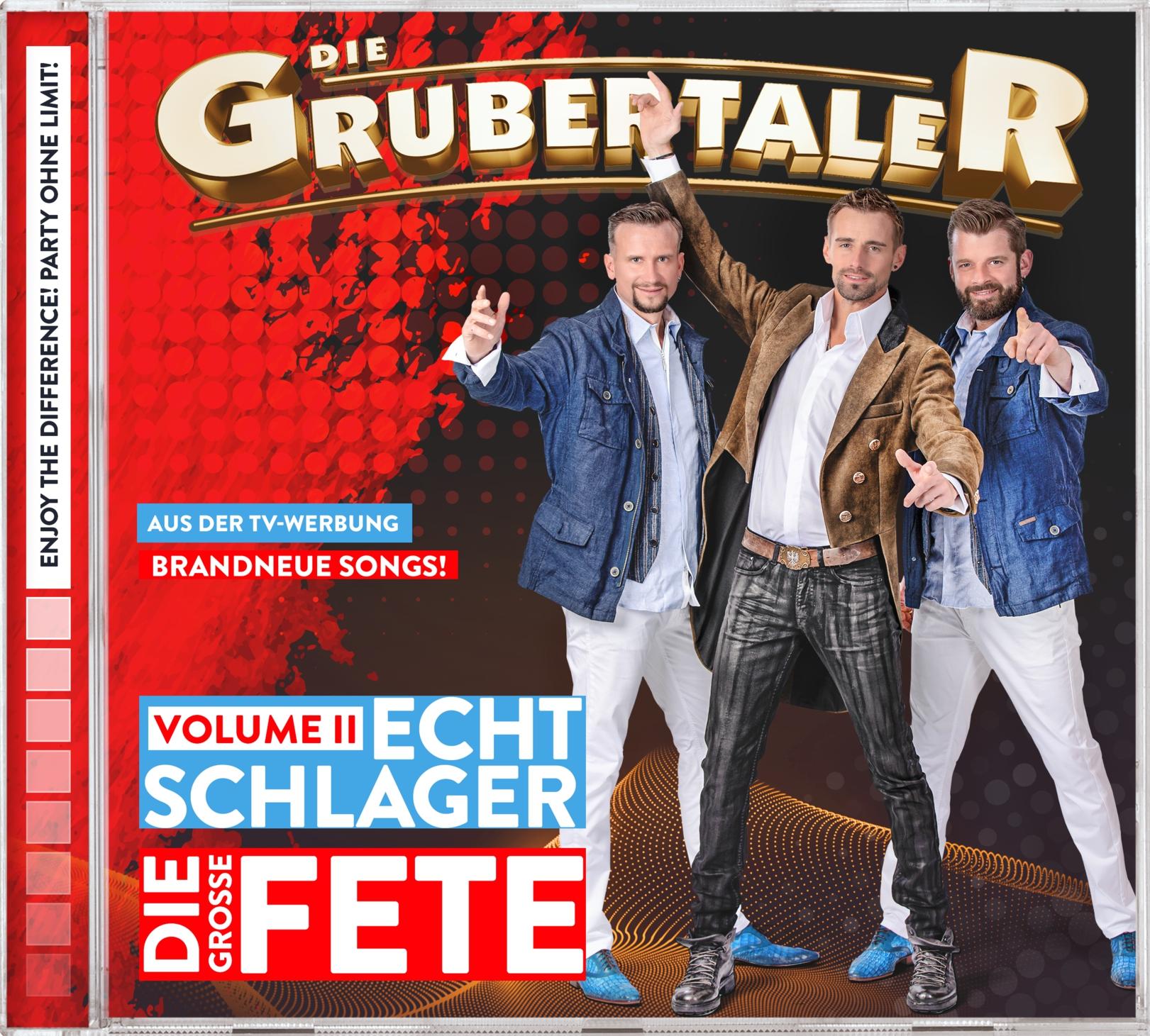 DIE GRUBERTALER * Echt Schlager – Die große Fete – Volume II (CD)